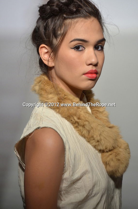 Mag Art Creations Fashion Show Model, Lydia Ramos, at Funkshion Fashion Week Miami Beach 2012 at The Moore Building on March 16, 2012