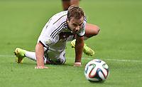 FUSSBALL WM 2014                ACHTELFINALE Deutschland - Algerien               30.06.2014 Mario Goetze (Deutschland) am Ball