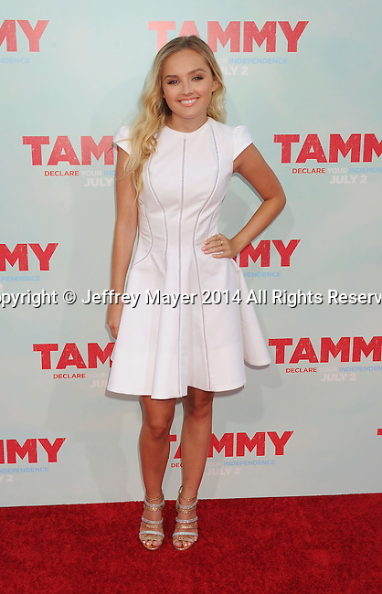 HOLLYWOOD, CA- JUNE 30: Actress Mia Rose Frampton arrives at the 'Tammy' - Los Angeles Premiere at TCL Chinese Theatre on June 30, 2014 in Hollywood, California.