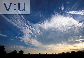 Mid level altocumulus cloud formation approaching, July