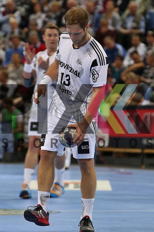 Kiel, 20.05.15, Sport, Handball, DKB Handball Bundesliga, Saison 2014/2015, THW Kiel - GWD Minden : Steffen Weinhold  (THW Kiel, #13)<br /> <br /> Foto &copy; P-I-X.org *** Foto ist honorarpflichtig! *** Auf Anfrage in hoeherer Qualitaet/Aufloesung. Belegexemplar erbeten. Veroeffentlichung ausschliesslich fuer journalistisch-publizistische Zwecke. For editorial use only.