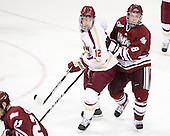 Kevin Hayes (BC - 12), Colin Shea (UMass - 8) - The Boston College Eagles defeated the University of Massachusetts-Amherst Minutemen 3-2 to take their Hockey East Quarterfinal matchup in two games on Saturday, March 10, 2012, at Kelley Rink in Conte Forum in Chestnut Hill, Massachusetts.