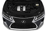 Car stock 2020 Lexus RX 350 5 Door SUV engine high angle detail view