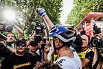 European Champion Matteo Trentin (ITA) Mitchelton-Scott wins Stage 17 of the 2019 Tour de France running 200km from Pont du Gard to Gap, France. 24th July 2019.<br /> Picture: ASO/Pauline Ballet | Cyclefile<br /> All photos usage must carry mandatory copyright credit (© Cyclefile | ASO/Pauline Ballet)