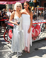 NEW YORK CITY, NY, USA - AUGUST 19: Rita Ora, Chrissy Teigen at the DKNY MYNY fragrance launch celebration held at Madison Square Park on August 19, 2014 in New York City, New York, United States. (Photo by Celebrity Monitor)