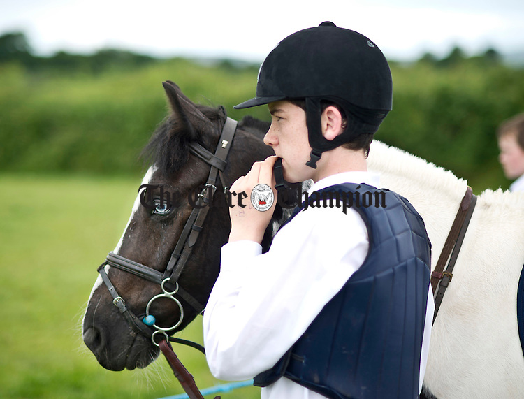 Padraig Fives watching the action during the Gymkhana in Ruan at the weekend. Photograph by Declan Monaghan