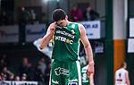 S&ouml;dert&auml;lje 2014-04-15 Basket SM-Semifinal 5 S&ouml;dert&auml;lje Kings - Uppsala Basket :  <br /> S&ouml;dert&auml;lje Kings Toni Bizaca ser deppig ut<br /> (Foto: Kenta J&ouml;nsson) Nyckelord:  S&ouml;dert&auml;lje Kings SBBK Uppsala Basket SM Semifinal Semi T&auml;ljehallen depp besviken besvikelse sorg ledsen deppig nedst&auml;md uppgiven sad disappointment disappointed dejected