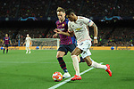 UEFA Champions League 2018/2019.<br /> Quarter-finals 2nd leg.<br /> FC Barcelona vs Manchester United: 3-0.<br /> Ivan Rakitic vs Marcus Rashford.