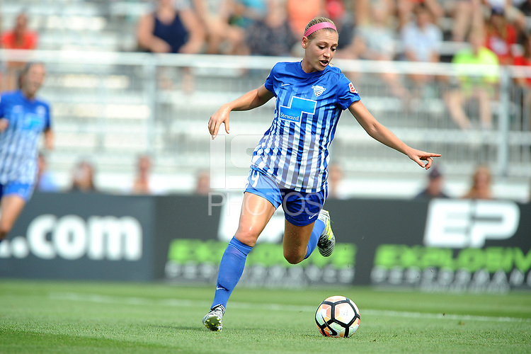 Boyds, MD - Saturday August 12, 2017: Megan Oyster during a regular season National Women's Soccer League (NWSL) match between the Washington Spirit and the Boston Breakers at Maureen Hendricks Field, Maryland SoccerPlex.