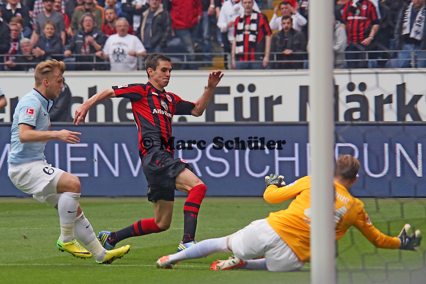Johannes Flum (Eintracht) scheitert an Johannes Geis und Loris Karius (Mainz) - Eintracht Frankfurt vs. 1. FSV Mainz 05