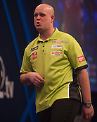 01.01.2014.  London, England.  William Hill PDC World Darts Championship.  Quarter Final Round.  Michael van Gerwen (1) [NED] comes close to a perfect leg against Robert Thornton (9) [SCO]