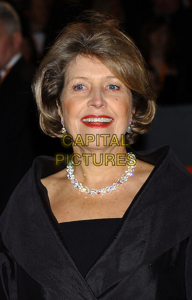 ANNE REID.Bafta Awards - British Academy Awards at Odeon Leicester Square.15 February 2004.portrait, headshot, necklace, red lipstick, make-up.www.capitalpictures.com.sales@capitalpictures.com.©Capital Pictures