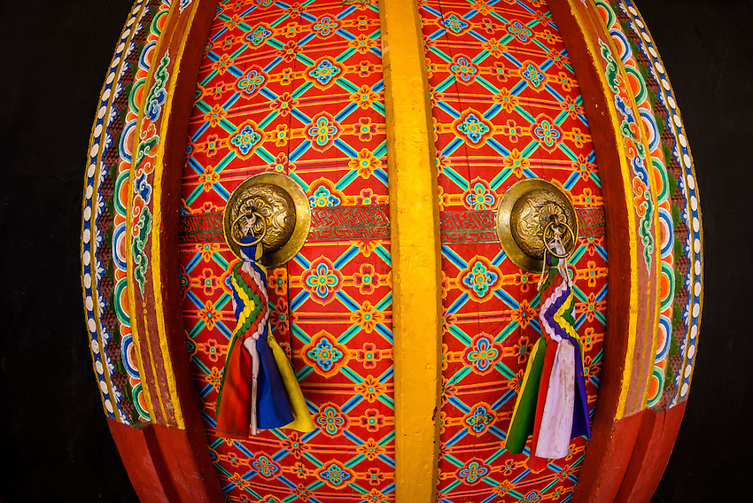 Doors, Stok Monastery, Leh Valley, Ladakh, Jammu and Kashmir State, India.