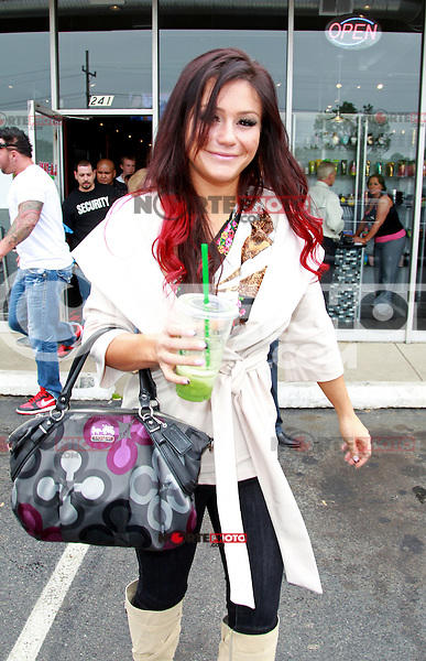 May 5, 2012: Jenni JWoww appears at L.A. Tan in Downers Grove, Illinois. Credit: Kamil Krzaczynski / Mediapunchinc