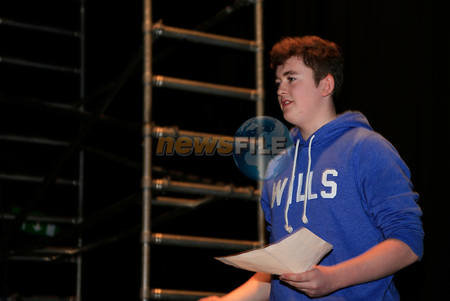 Dillon Rogers at the drama workshop in the Arts centre<br /> Picture:  www.newsfile.ie