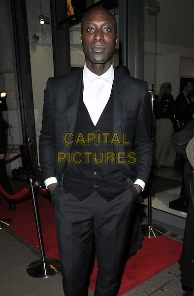 LONDON, ENGLAND - NOVEMBER 27: Ozwald Boateng attends the &quot;Mikhail Baryshnikov: Dancing Away&quot; photography collection private view, Contini Art UK, New Bond St., on Thursday November 27, 2014 in London, England, UK. <br /> CAP/CAN<br /> &copy;Can Nguyen/Capital Pictures