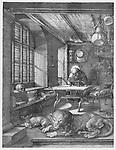 Saint Jerome in his study, Albrecht Dürer, 1514
