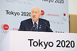 Yoshiro Mori, MARCH 28, 2016 : Ajinomoto held a press conference in Tokyo to announce that it had entered into a partnership agreement with the Tokyo Organising Committee of the 2020 Olympic and Paralympic Games and as such has become an official partner for Tokyo 2020. (Photo by YUTAKA/AFLO SPORT)