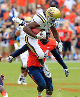 DUPLICATE***UCLA running back Paul Perkins (24)***UCLA defensive back Ishmael Adams (24) during the game in Charlottesville, VA. Virginia lost to UCLA 28-20. Photo/Andrew Shurtleff