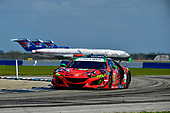 IMSA WeatherTech SportsCar Championship<br /> Sebring February Test<br /> Sebring, Florida, USA<br /> Thursday 22 February 2018<br /> #93 Michael Shank Racing Acura NSX, GTD: Lawson Aschenbach, Justin Marks, Mario Farnbacher<br /> World Copyright: Richard Dole<br /> LAT Images