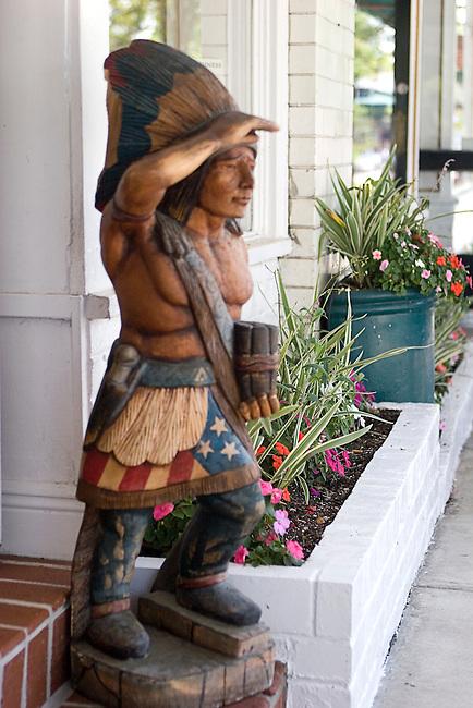 Shopping, Wooden Indian, John Craig, Winter Park, Orlando, Florida