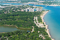 Canatara Park beach and Lake Huron shoreline, Sarnia, Ontario