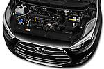 Car Stock 2016 Hyundai ix20 Joy 5 Door Mini MPV Engine  high angle detail view