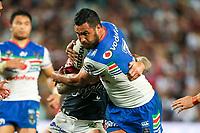 Peta Hiku. Sydney Roosters v Vodafone Warriors, NRL Rugby League. Allianz Stadium, Sydney, Australia. 31st March 2018. Copyright Photo: David Neilson / www.photosport.nz