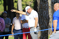 Thomas Bjorn (DEN) takes a free drop on the 10th hole during Thursday's Round 1 of the 2018 Turkish Airlines Open hosted by Regnum Carya Golf &amp; Spa Resort, Antalya, Turkey. 1st November 2018.<br /> Picture: Eoin Clarke | Golffile<br /> <br /> <br /> All photos usage must carry mandatory copyright credit (&copy; Golffile | Eoin Clarke)