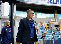14th July 2020; The Den, Bermondsey, London, England; English Championship Football, Millwall Football Club versus Blackburn Rovers; Blackburn Rovers manager Tony Mowbray walking towards the dugout from the away players tunnel before kick off