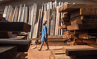 March 10, 2017; YALI fellow Evelyn Zalwango owner of Awaka Furniture Ltd. in Kampala, Uganda.  (Photo by Barbara Johnston/University of Notre Dame)