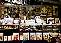 The military collection of Mel Bernstein, aka Dragonman, at his gun store and shooting range in Colorado Springs, Colorado, Friday, April 15, 2016. The memorabilia covers all aspects of US military history dating back to World War One.<br /> <br /> Photo by Matt Nager
