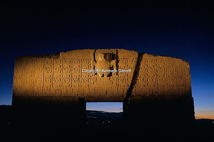 Gate of the Sun; Bolivia, Tiwanaku
