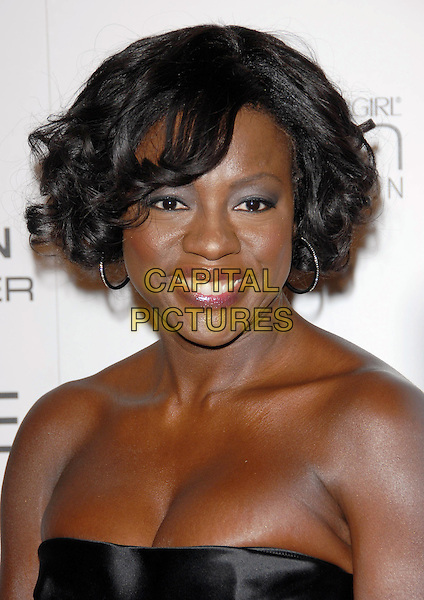 VIOLA DAVIS.The Third Annual ESSENCE Black Women In Hollywood Luncheon held at The Beverly Hills Hotel in Beverly Hills, California, USA..March 4th, 2010                                                                    .headshot portrait purple eyeshadow hoop earrings black strapless .CAP/RKE/DVS.©DVS/RockinExposures/Capital Pictures.