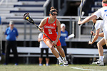 DURHAM, NC - FEBRUARY 16: Campbell's Melissa Placek. The Duke University Blue Devils hosted the Campbell University Camels on February 16, 2018, at Koskinen Stadium in Durham, NC in women's college lacrosse match. Duke won the game 18-8.