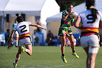 Selica Winiata. Women's cup final between Manawatu and Waikato on day two of the 2018 Bayleys National Sevens at Tauranga Domain in Tauranga, New Zealand on Sunday, 16 December 2018. Photo: Dave Lintott / lintottphoto.co.nz