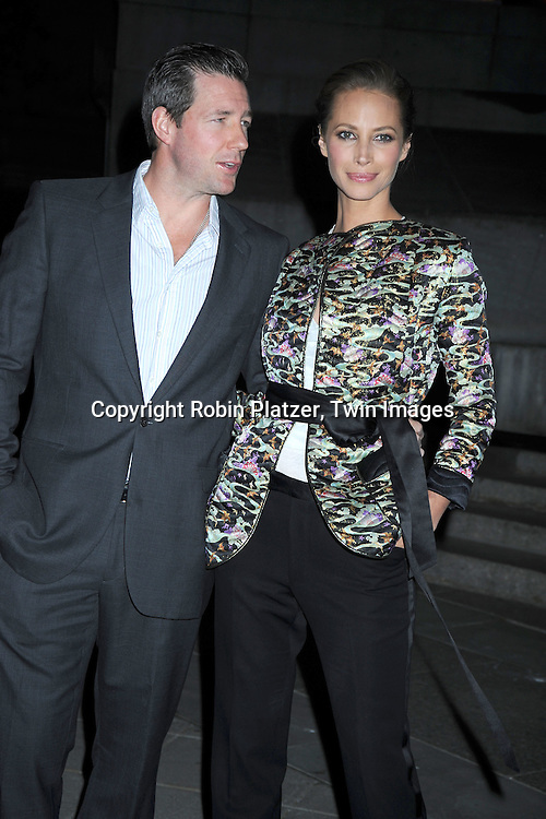 Ed Burns and wife Christy Turlington arriving at The Vanity Fair Tribeca Film Festival Party on April 20, 2010 at The State Supreme Courthouse in New York City.