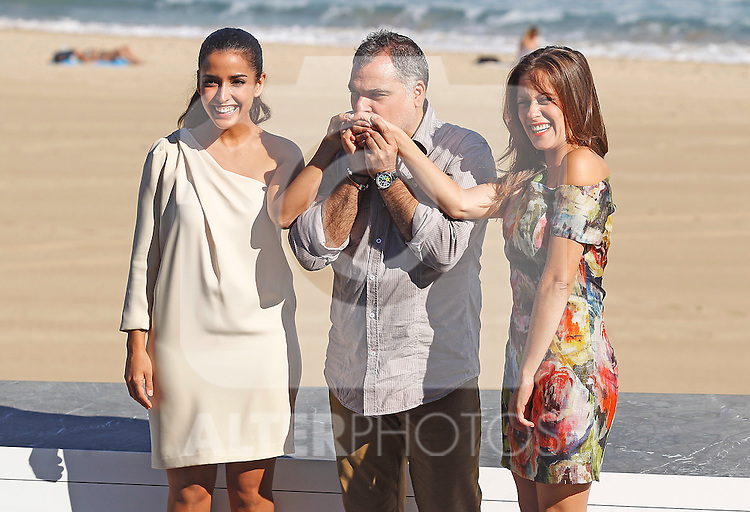 The actresses Inma Cuesta (l) and Maria Leon (r) and the director Benito Zambrano (c) during the 59th San Sebastian Donostia International Film Festival - Zinemaldia.September 21,2011.(ALTERPHOTOS/ALFAQUI/Acero)