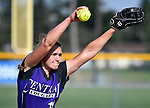 Breese Central pitcher Olivia Wesselmann throws in the first inning. Breese Central High School played at Freeburg High School on Tuesday May 1, 2018. Tim Vizer | Special to STLhighschoolsports.com
