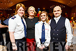 Melanie Smith from Tralee nominated for an award at the Garda Youth Achievement Awards in the Ballyroe Heights Hotel on Friday night. Majella Forde (Red Cross), Catherine, Melanie and Daniel Smith