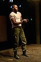 "Bush Theatre presents ""AN ADVENTURE"", by Vinay Patel. Directed by Madani Younis, with design by Rosanna Vize. The cast is: Nila Aalia, Martins Imhangbe, Aysha Kala, Selva Rasalingam, Shubham Saraf and Anjana Vasan. Picture shows: Martins Imhangbe."