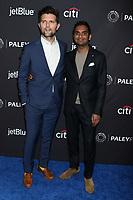 "LOS ANGELES - MAR 21:  Adam Scott, Aziz Ansari at the PaleyFest - ""Parks and Recreation"" 10th Anniversary Reunion at the Dolby Theater on March 21, 2019 in Los Angeles, CA"