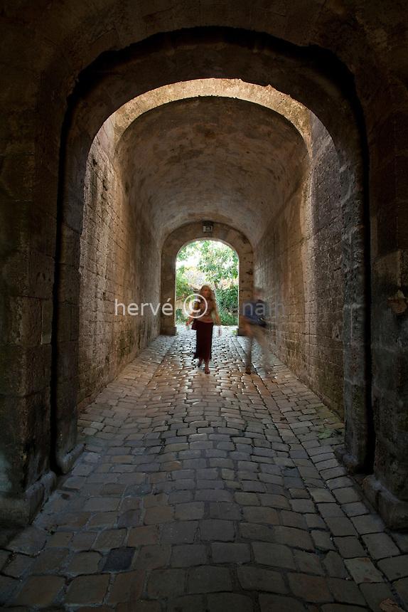 France, Gironde (33), estuaire de la Gironde, Blaye, citadelle de Vauban du XVIIe siècle, classée Patrimoine Mondial de l'UNESCO, porte Dauphine // France, Gironde, estuary of the Gironde, Blaye, citadel Vauban of the seventeenth century, listed as World Heritage by UNESCO, Porte Dauphine