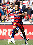 Granada's Ruben Rochina (l) and FC Barcelona's Neymar Santos Jr during La Liga match. May 14,2016. (ALTERPHOTOS/Acero)