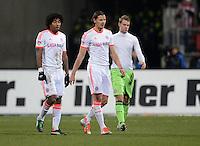 FUSSBALL   1. BUNDESLIGA  SAISON 2012/2013   12. Spieltag 1. FC Nuernberg - FC Bayern Muenchen      17.11.2012 Dante, Daniel van Buyten und Torwart Manuel Neuer (v. li., FC Bayern Muenchen)