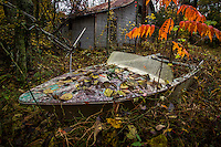 Abandoned Boat in the Ozark National Forest in Arkansas