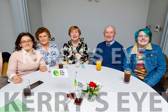 Beatrice and Helen Cable, Eileen and John Murrihy and Jay O'Connor attending the Puppy Love -Valentine's Fundraising Dance in aid of the Irish Guide Dogs for the Blind in the Meadowlands Hotel on Friday night.