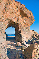 Laguna Beach CA, Key-hole, rock, formation, in the, cliffs, Montage, Resort, seaside resort, artist community, located in southern, Orange County, California, United States