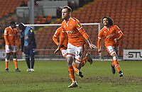 Blackpool's Harry Pritchard celebrates scoring his team's second goal<br /> <br /> Photographer Dave Howarth/CameraSport<br /> <br /> The EFL Sky Bet League One - Blackpool v Wycombe Wanderers - Tuesday 29th January 2019 - Bloomfield Road - Blackpool<br /> <br /> World Copyright © 2019 CameraSport. All rights reserved. 43 Linden Ave. Countesthorpe. Leicester. England. LE8 5PG - Tel: +44 (0) 116 277 4147 - admin@camerasport.com - www.camerasport.com