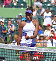 KEY BISCAYNE, FL - MARCH 25: Venus Williams  during day 7 of the Miami Open Presented by Itau at Crandon Park Tennis Center on March 25, 2018 in Key Biscayne, Florida.<br /> <br /> <br /> People:  Venus Williams